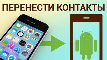 Как перекинуть контакты с Айфона на Андроид?