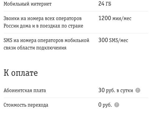 Описание тарифа ВСЁмоё 3