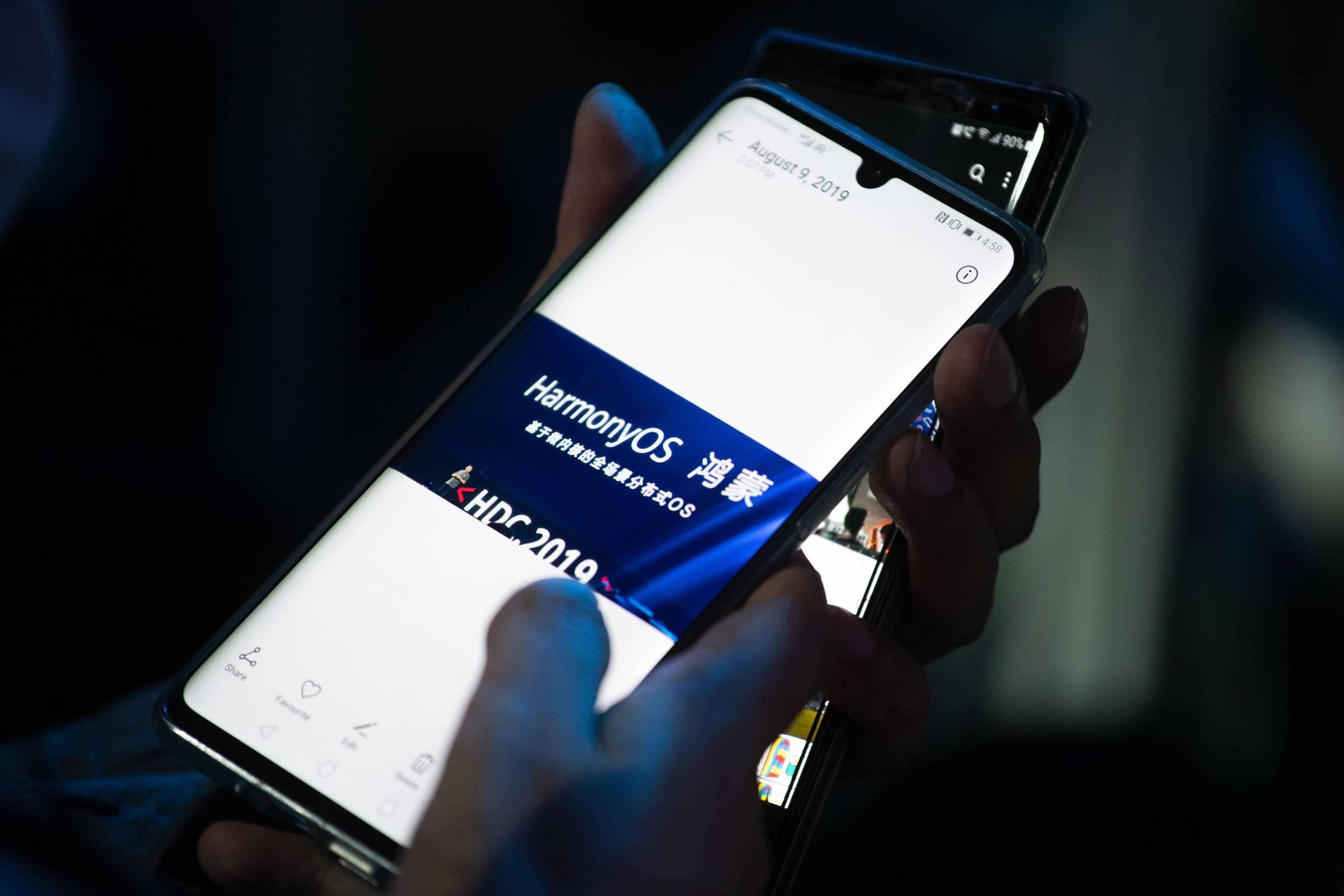 Harmony OS на смартфоне