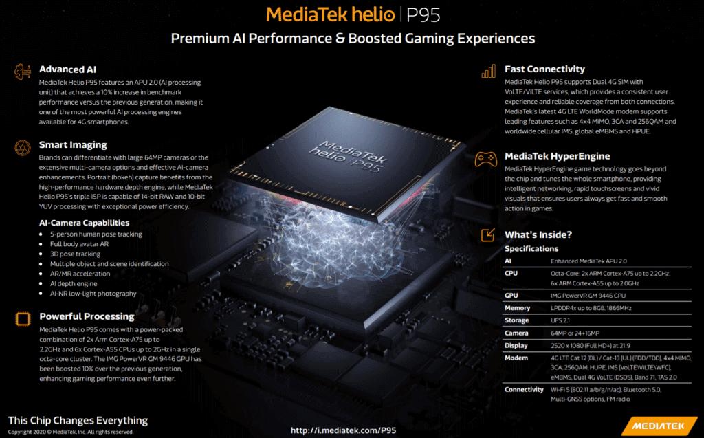 Характеристики чипсета MediaTek Helio P95