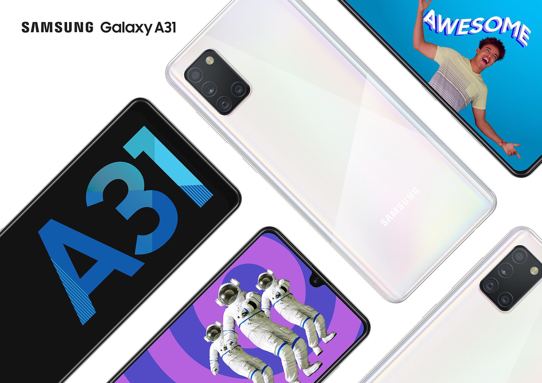 Дизайн Samsung Galaxy A31