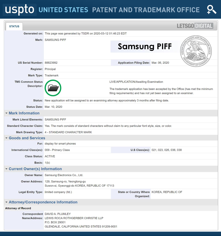 Samsung PIFF