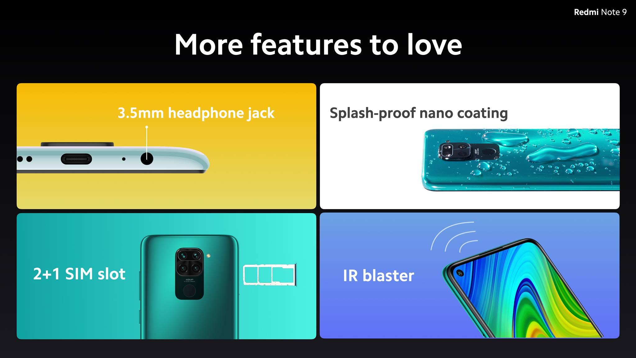 Характеристики Xiaomi Redmi Note 9