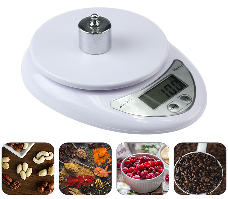 Портативные цифровые весы до 5 кг Kitchen Scales