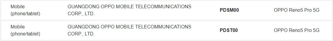 Официально зарегистрировано название OPPO Reno 5 Pro 5G