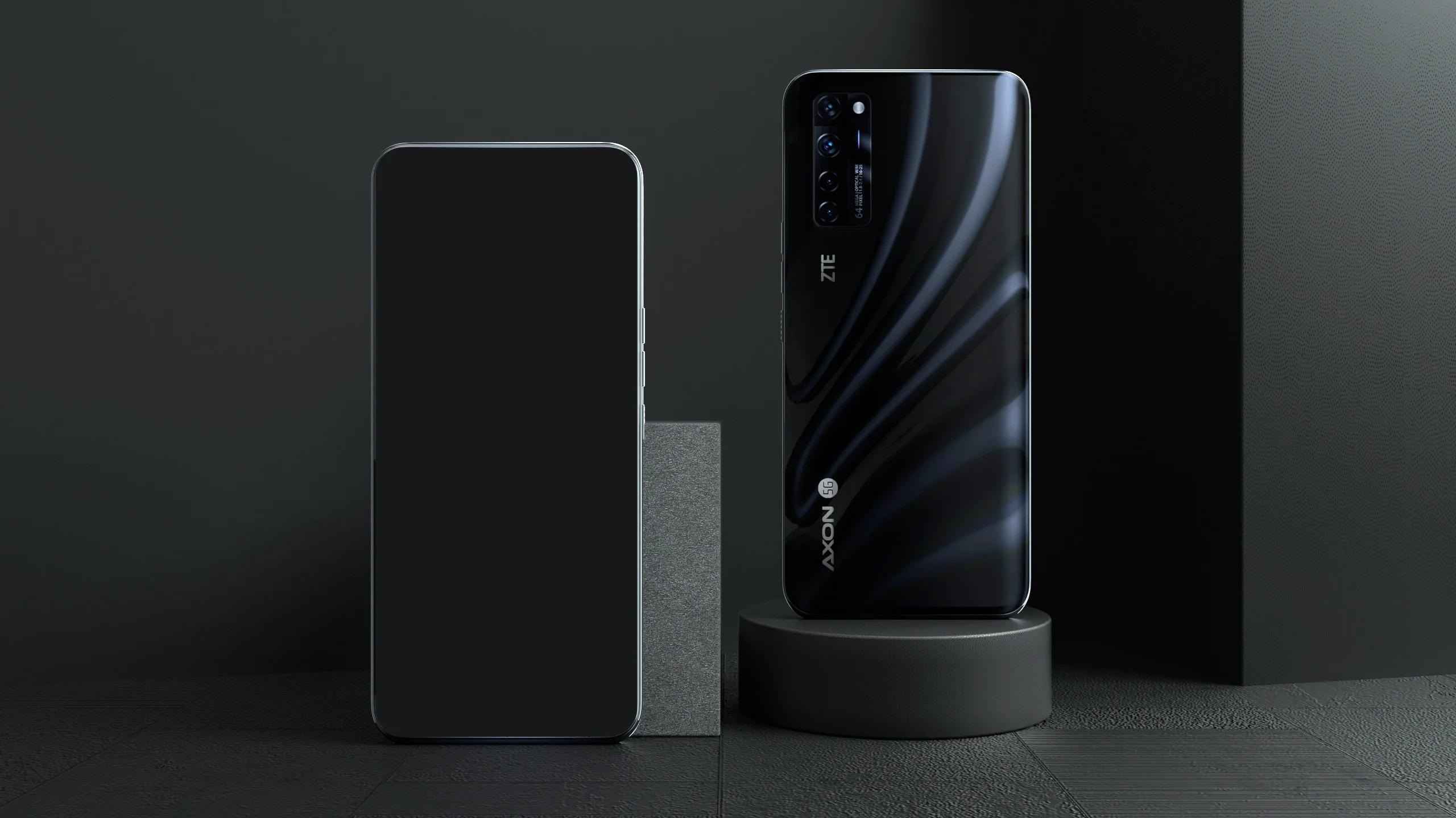 ZTE Axon 20 5G в черном цвете