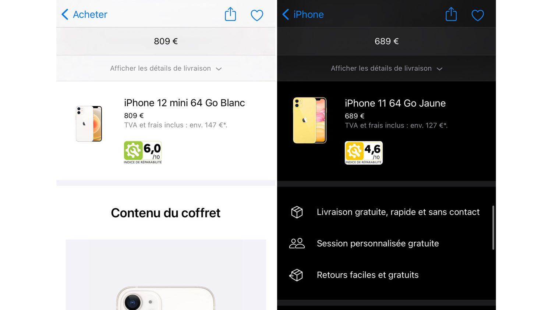 индекс ремонтопригодности на устройствах Apple